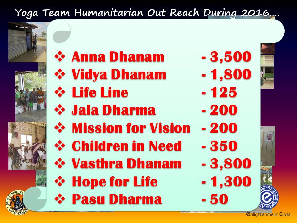Humanitarian out reach assistance